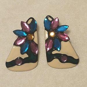 La Rage Art Deco Vintage Earrings